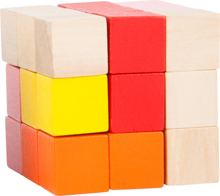 Construction Cube Red - Yellow