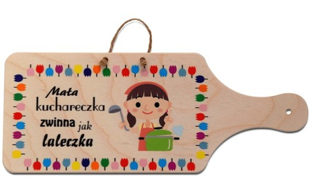 "Wooden decorative board ""Little cook"""